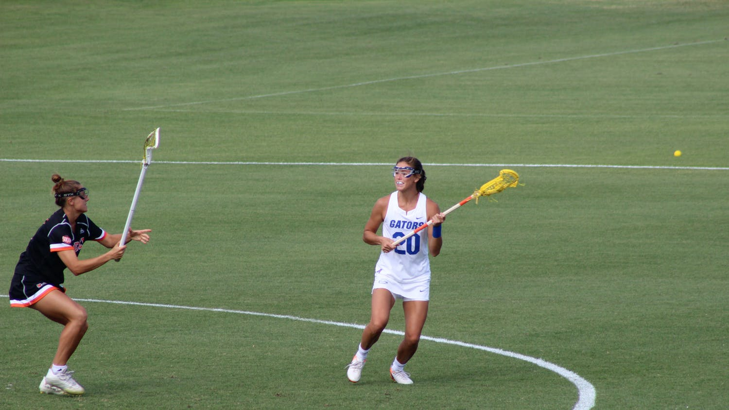 Attacker Brianna Harris against Mercer. Harris leads the Gators into a second-round matchup with Jacksonville University Sunday.