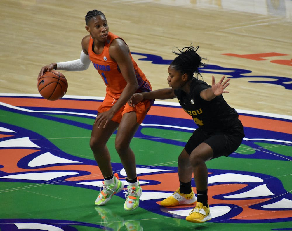 Smith hit a career-high 34 points Sunday. Photo from January UF-Mizzou game.