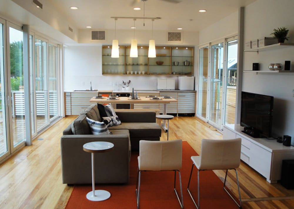 <p>Team Florida, a collaboration of universities in the state, designed FLeX House to compete in the U.S. Department of Energy Solar Decathlon 2011. Students from UF were responsible for the interior design of the building.</p>