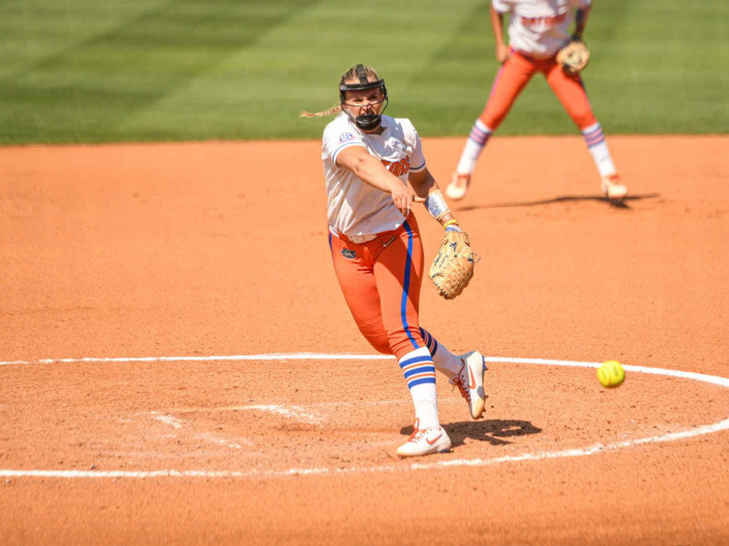 Pitchers Kelly Barnhill and Natalie Lugo pitched a combined no-hitter as Florida advanced to the Gainesville Regional Final.