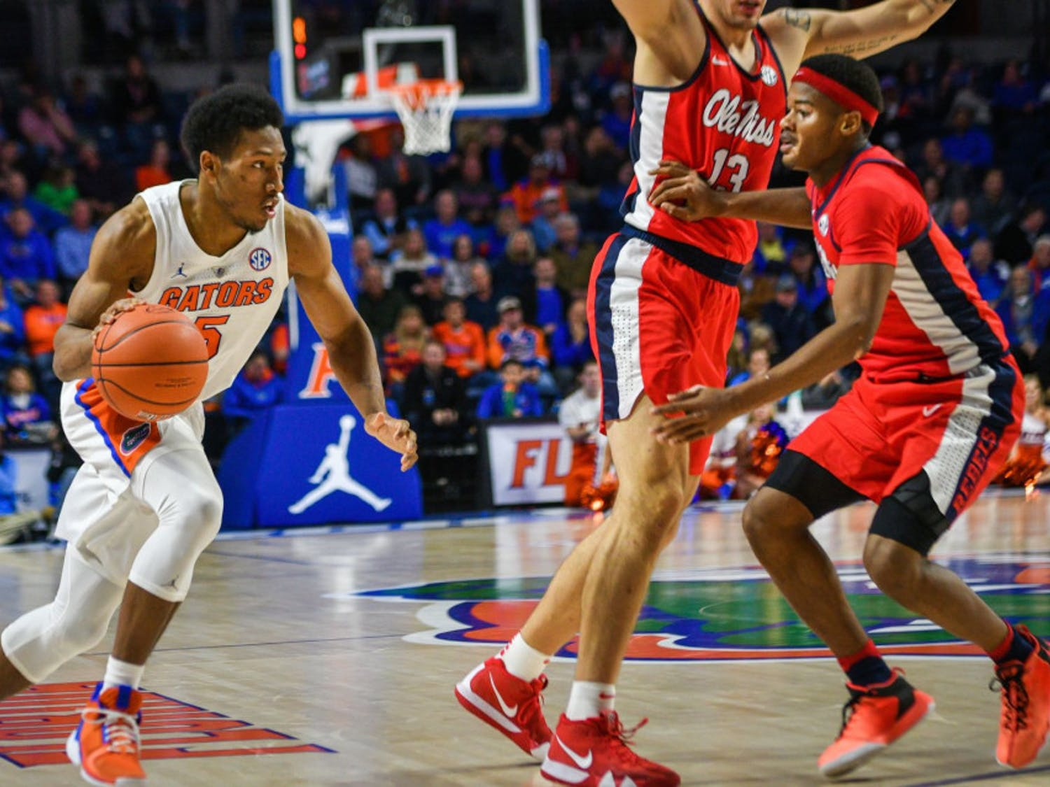 Senior guard KeVaughn Allen scored 21 points with five assists in the Gators' 90-86 overtime win over Ole Miss.