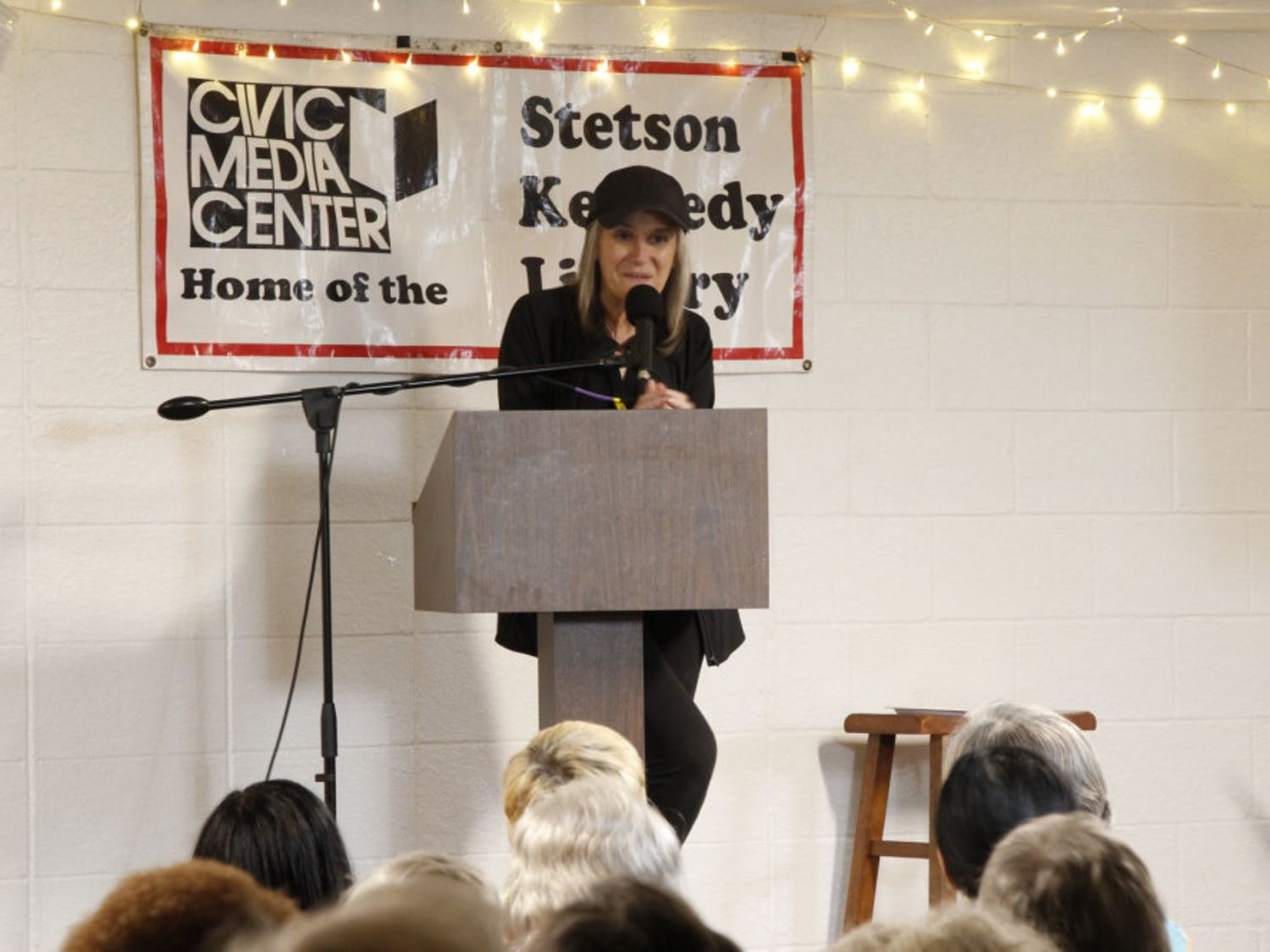 Amy Goodman spoke before an estimated audience of 250 people at Working Food Community Center Friday, Oct. 19, 2018. The event was held to celebrate the Civic Media Center's 25th Anniversary.