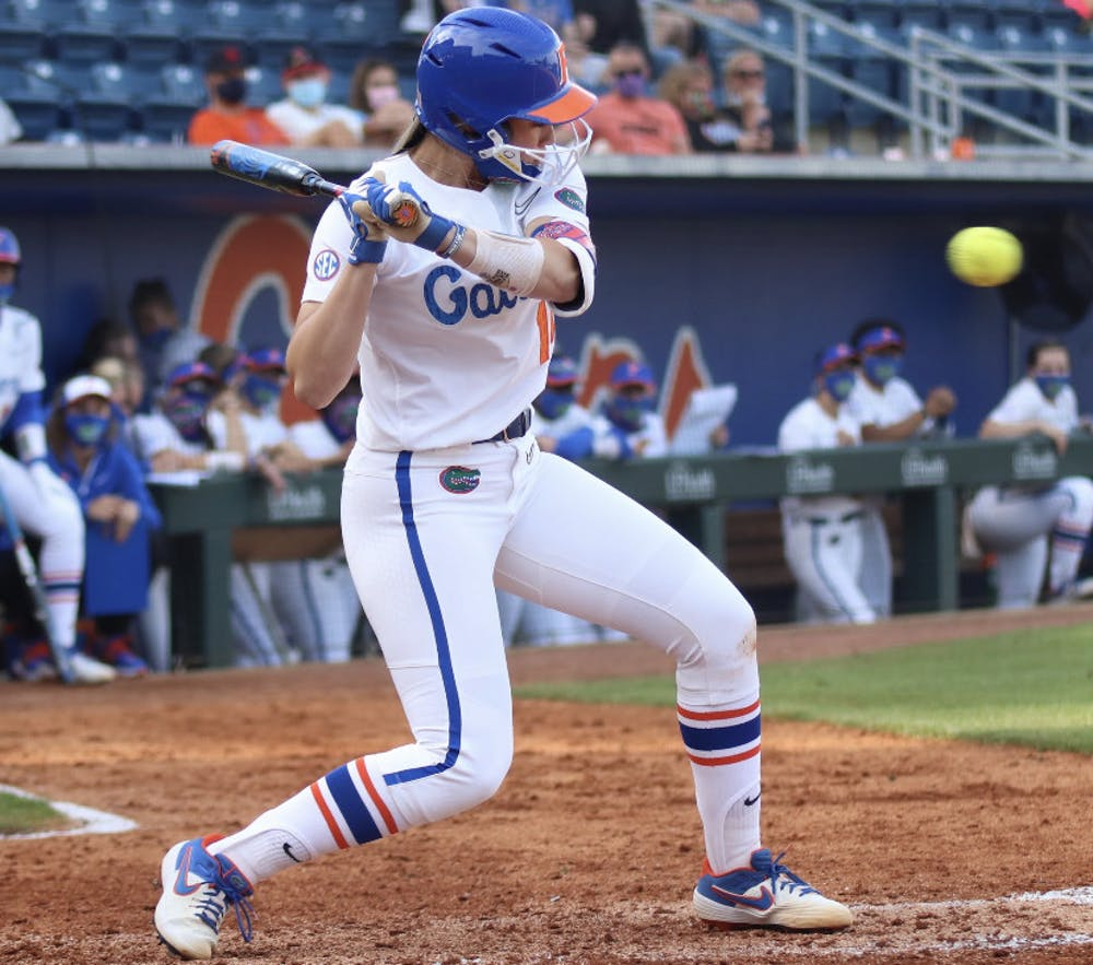<p>Sophomore Sarah Longley prepares her swing March 3 against Florida State.</p>
