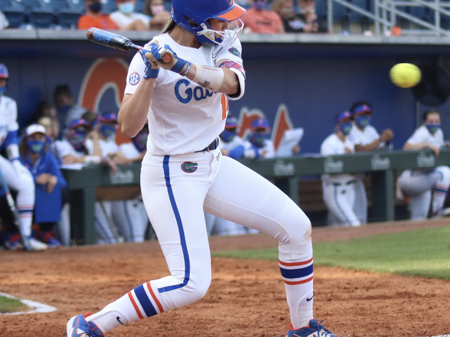 Sophomore Sarah Longley prepares her swing March 3 against Florida State.