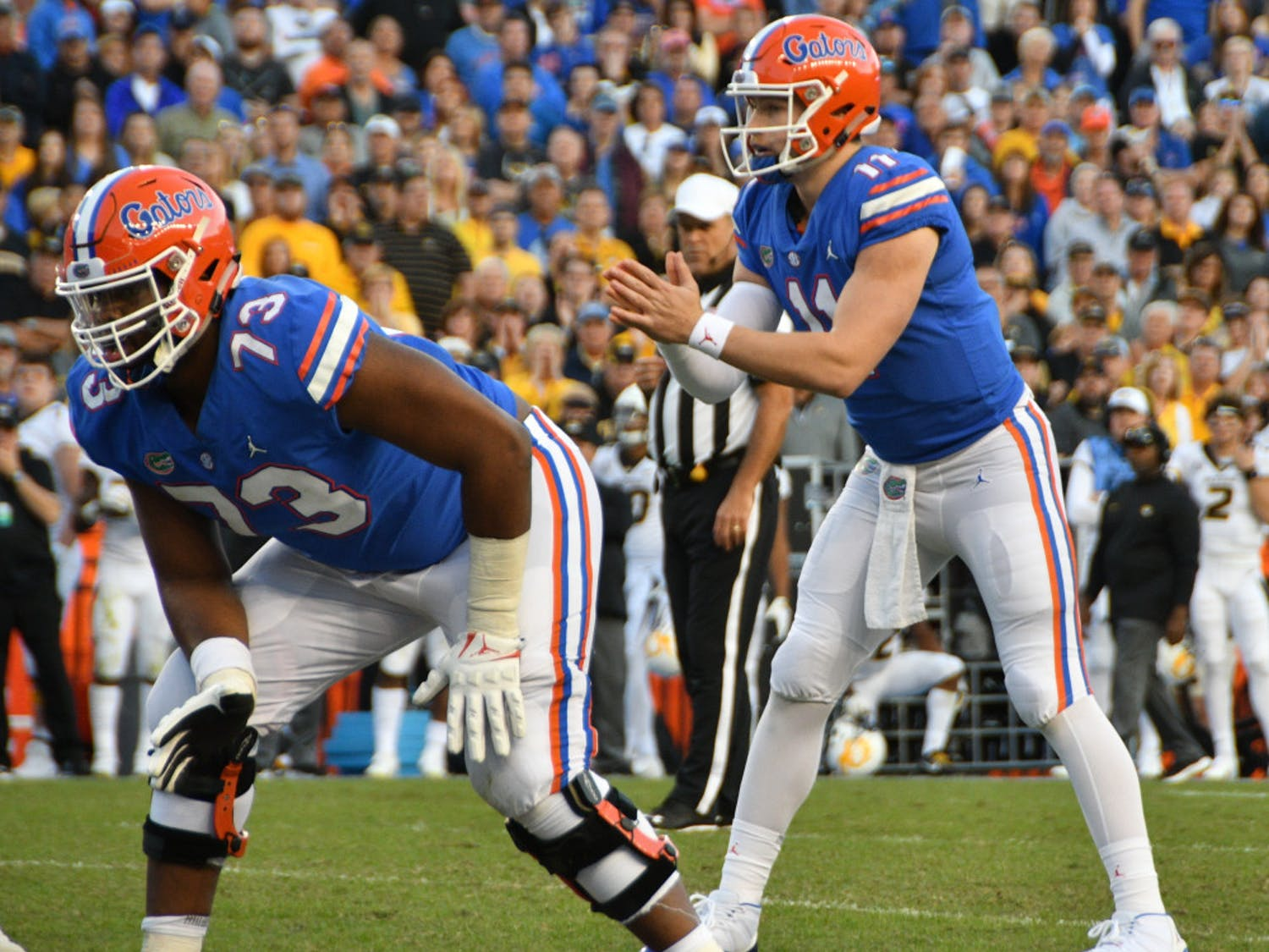 Quarterback Kyle Trask took over for Feleipe Franks with five minutes to go in the third quarter in Saturday's 38-17 loss to Missouri. He led a scoring drive in his first series.