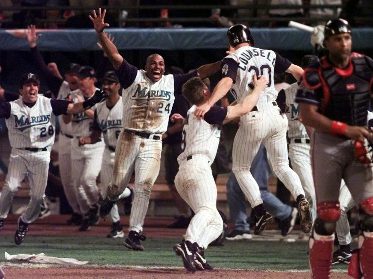 The then-Florida Marlins won the 2003 World Series over Cleveland.
