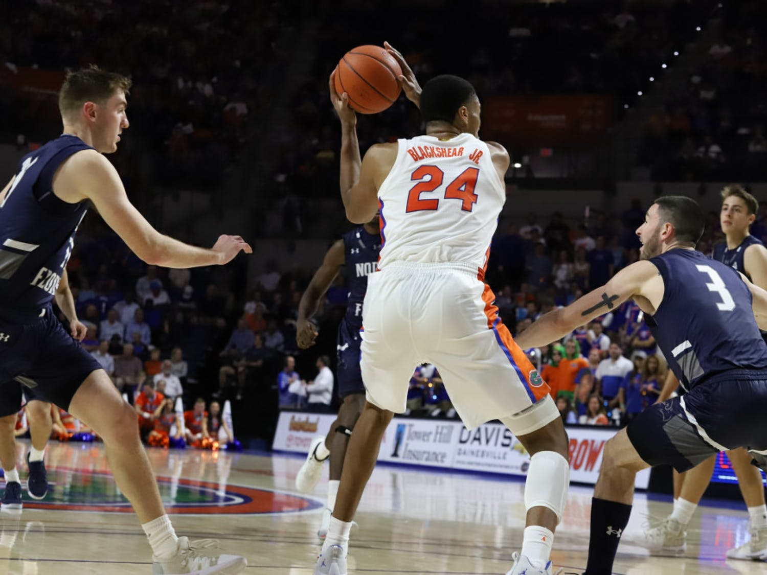 Forward Kerry Blackshear Jr. logged 20 points and 10 rebounds in the UF win.