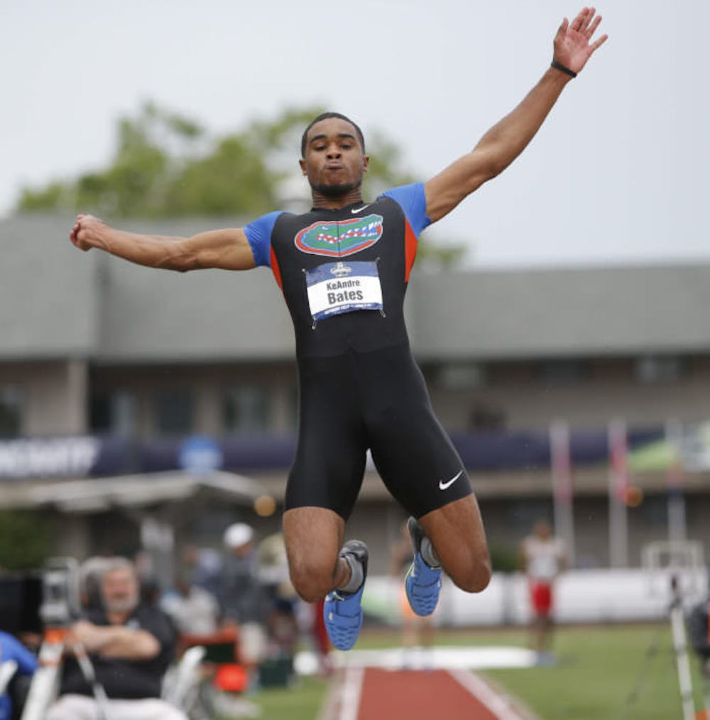 <p>Senior KeAndre Bates is the reigning national champion in both the triple jump and the long jump. Bates will defend his title this week at the NCAA Outdoor Championships in Eugene, Oregon, starting Wednesday.&nbsp;</p>