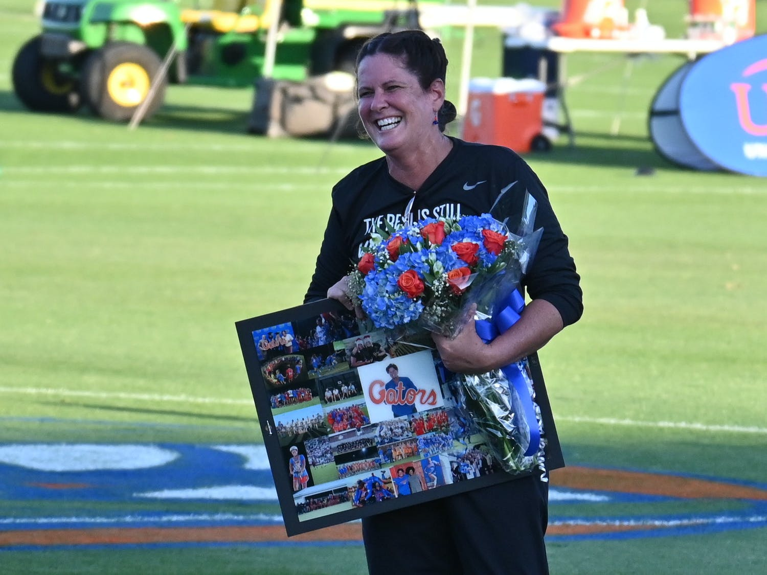 Coach Becky Burleigh ended her career at Florida with a 2-0 win over Miami. Photo from UF-Georgia Southern game March 11.