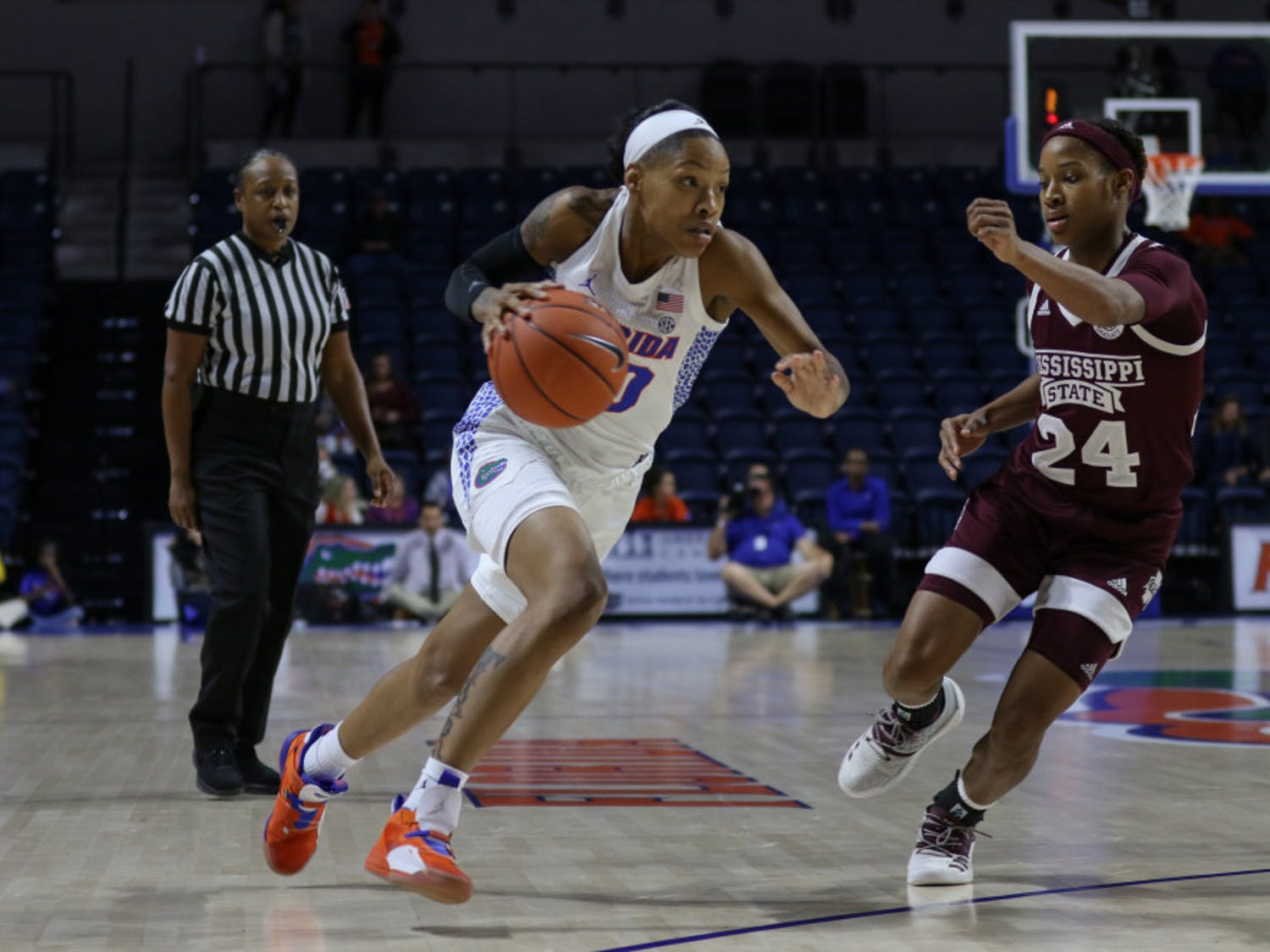 Florida guard Delicia Washington is expected to return for Thursday's game against Tennessee. She took a hit to the head against Mississippi State on Jan. 24 that forced her to sit out a game as she went through concussion protocol.