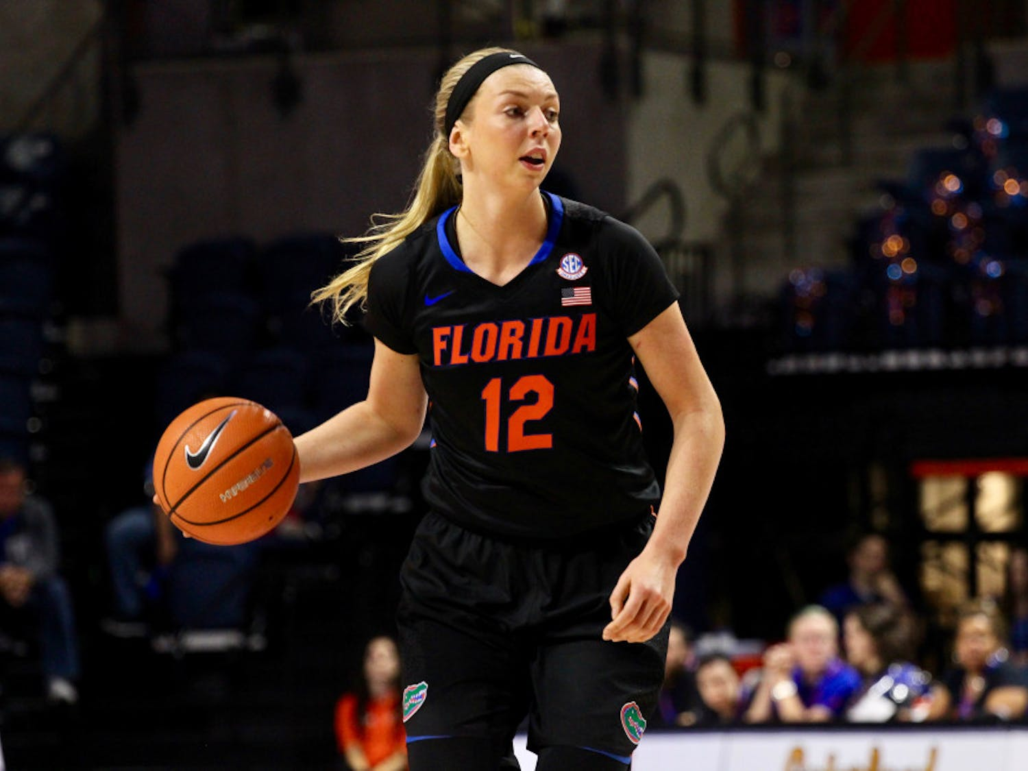 Graduate transfer Paulina Hersler is posting career highs in points per game(12.2), rebounds per game(6.8) and three-point percentage (37 percent) during her time as a Gator.