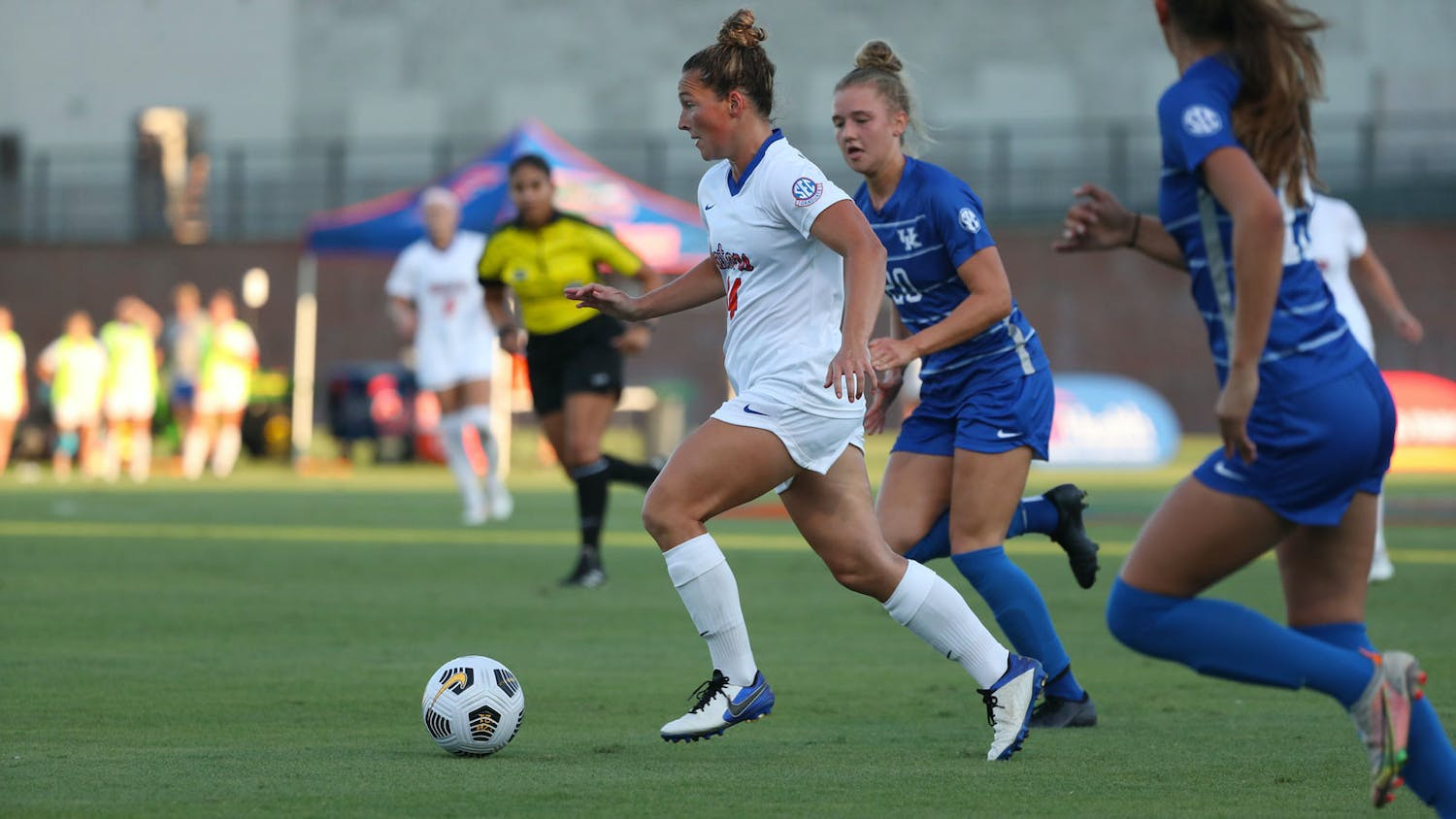 Florida's Madison Alexander dribbles with the ball during a game against Kentucky on Sept. 23