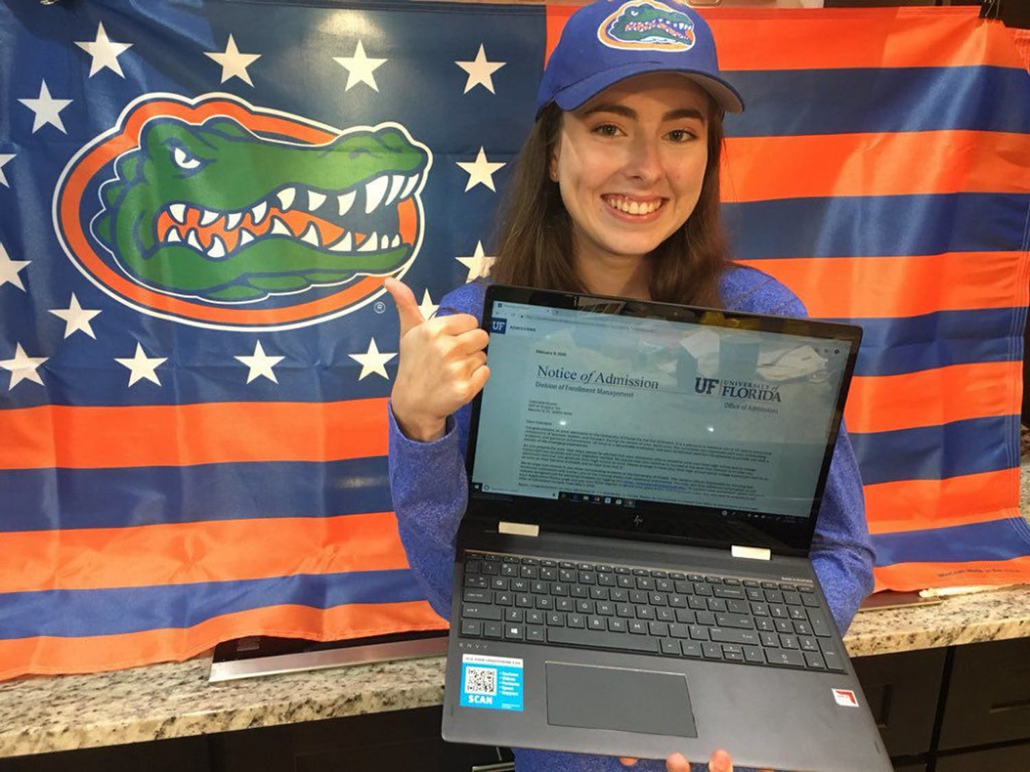 Gabrielle Russo, 17, was accepted into UF's class of 2023. Russo, who's a third generation Gator, applied as undecided but is interested in biomedical engineering.