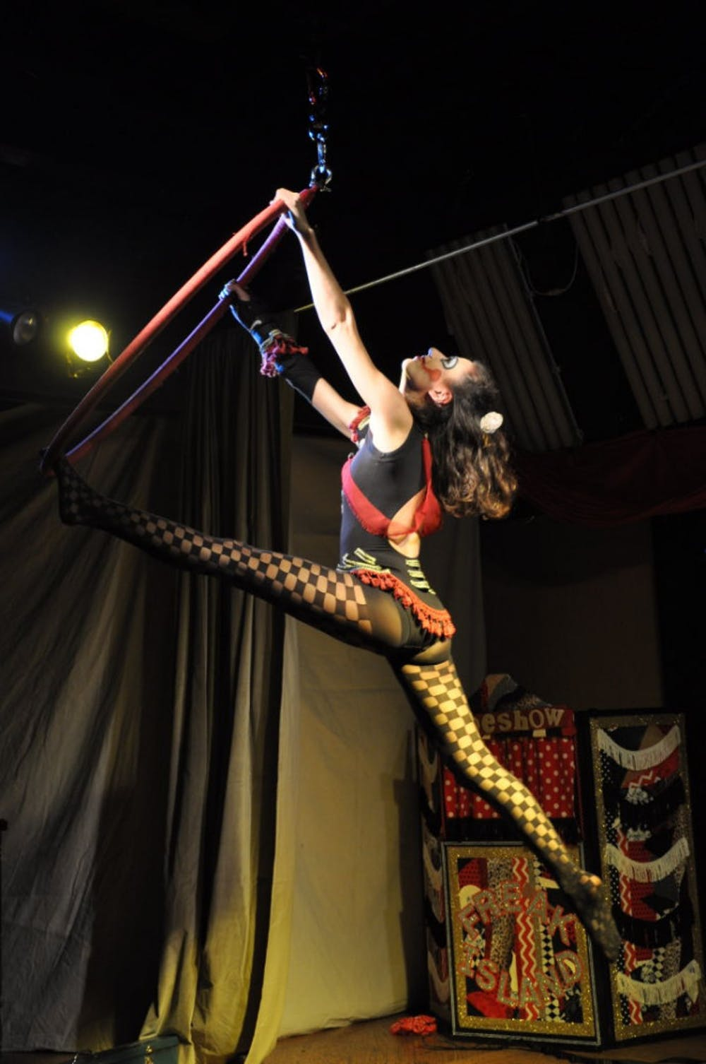 "<p class=""p1"">Lira Linx performs Saturday at Dr. Sinn's Freak Island Musical Sideshow. The show runs again this weekend at The Library at Market Street on Saturday at 7 p.m.</p>"