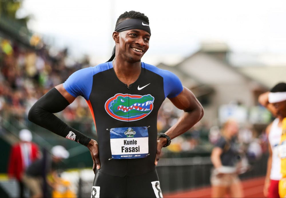 "<p>UF sprinter <span id=""docs-internal-guid-97744439-6b86-ea1a-cd7c-3f33d9e9873b""><span>Kunle Fasasi has followed his dream from his hometown in Nigeria to Gainesville. </span></span></p>"