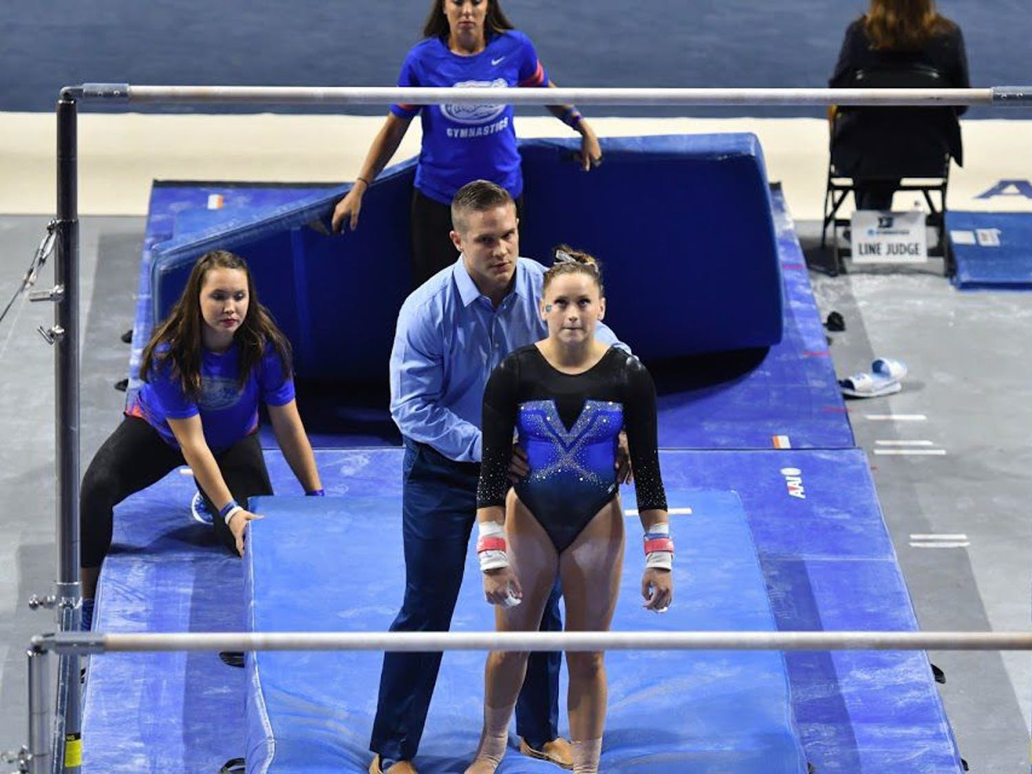 UF gymnast Rachel Gowey prepares for an event during the NCAA Gainesville Regional on April 1, 2017, at the O'Connell Center.