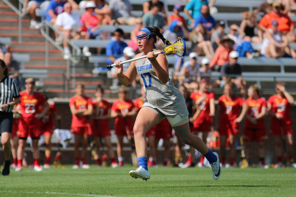 """<p dir=""""ltr""""><span>Sophomore midfielder Shannon Kavanagh scored four goals and was perfect from the free position against the No. 16 Greyhounds in Baltimore on Saturday.</span></p>"""