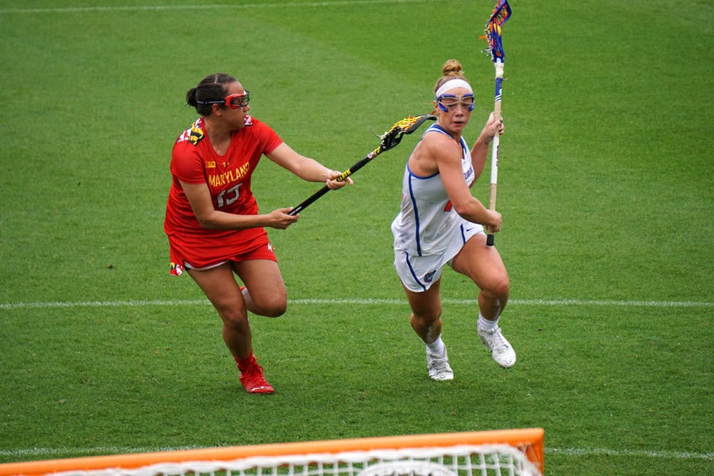 <p>Attacker Lindsey Ronbeck returned to the Gators' lineup after missing the last three games.&nbsp;</p>