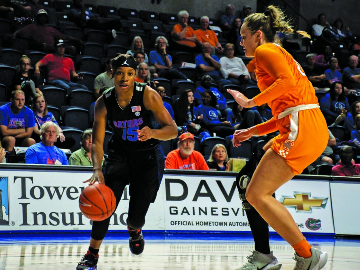 Guard Nina Rickards scored just six points in a road loss to Alabama Thursday night.