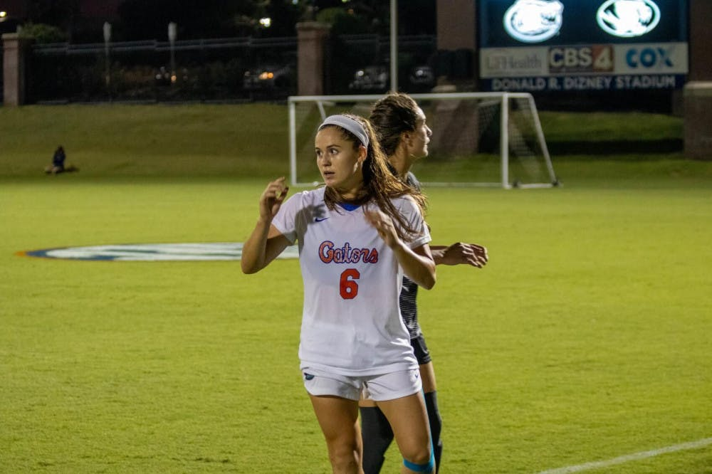 <p>Florida&#x27;s Kit Loferski in a game against Texas A&amp;M in 2019.</p>