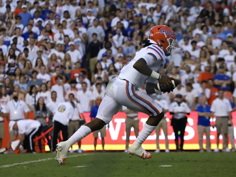 Florida's Emory Jones runs with the ball during the Gators' season opener on Sept. 4 against Florida Atlantic.