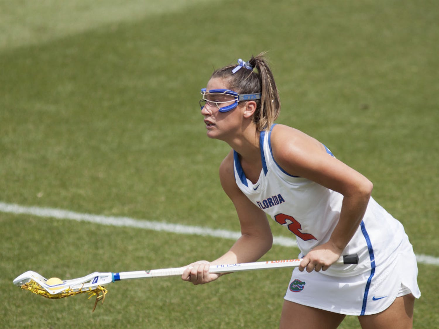 Sammi Burgess looks on during UF's win over Denver on March 25.
