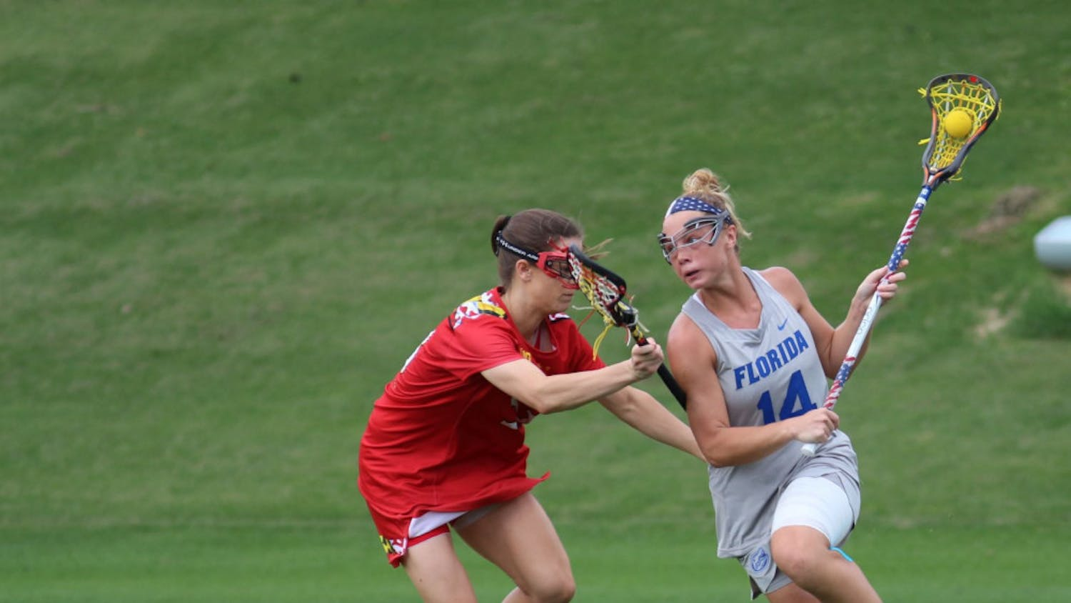 Senior attacker Lindsey Ronbeck has recorded 15 goals in the last two contests, with seven in the UF lacrosse team's 20-10 victory Saturday over East Carolina.