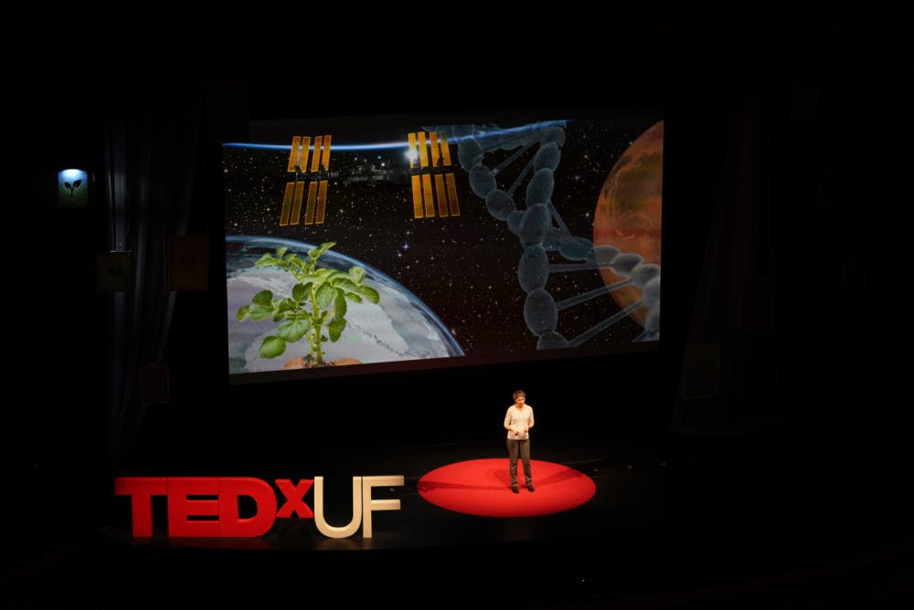 """<div>Anna-Lisa Paul, a UF horticultural sciences research professor, discussed how to be a better martian gardener with plants on Mars at TEDxUF. """"Plants truly enable us to colonize places we've never been before,"""" she said.</div>"""