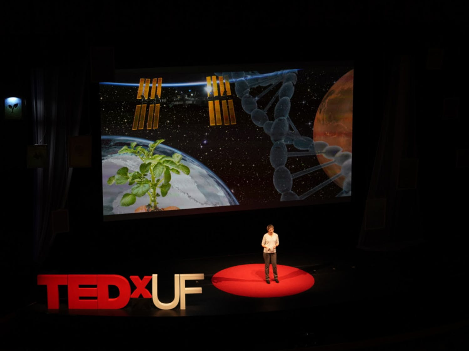 "Anna-Lisa Paul, a UF horticultural sciences research professor, discussed how to be a better martian gardener with plants on Mars at TEDxUF. ""Plants truly enable us to colonize places we've never been before,"" she said."