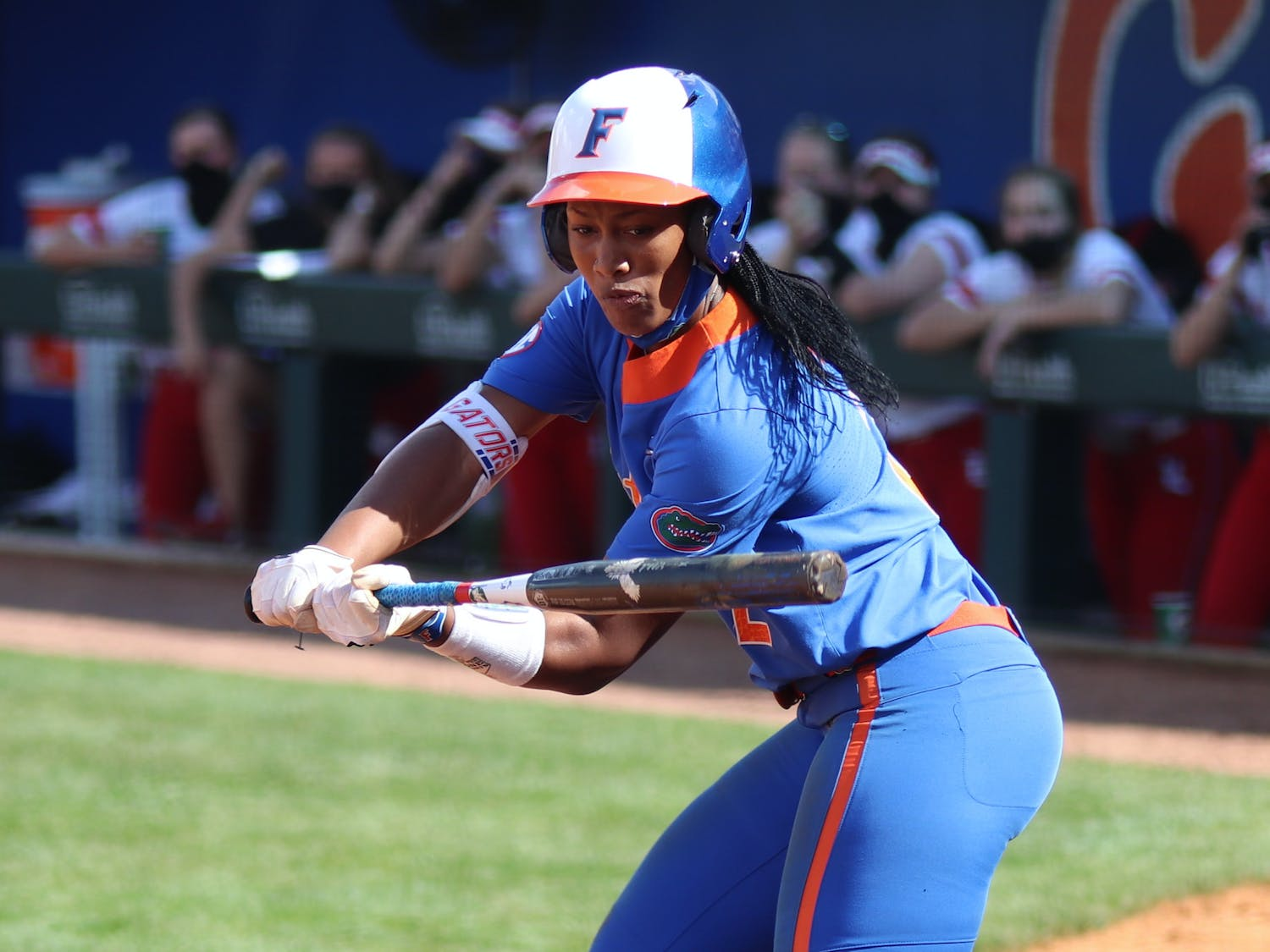 Florida clinched a 4-2 victory on Sunday afternoon at Katie Seashole Pressly Stadium. Photo from UF-Louisville game Feb. 27.