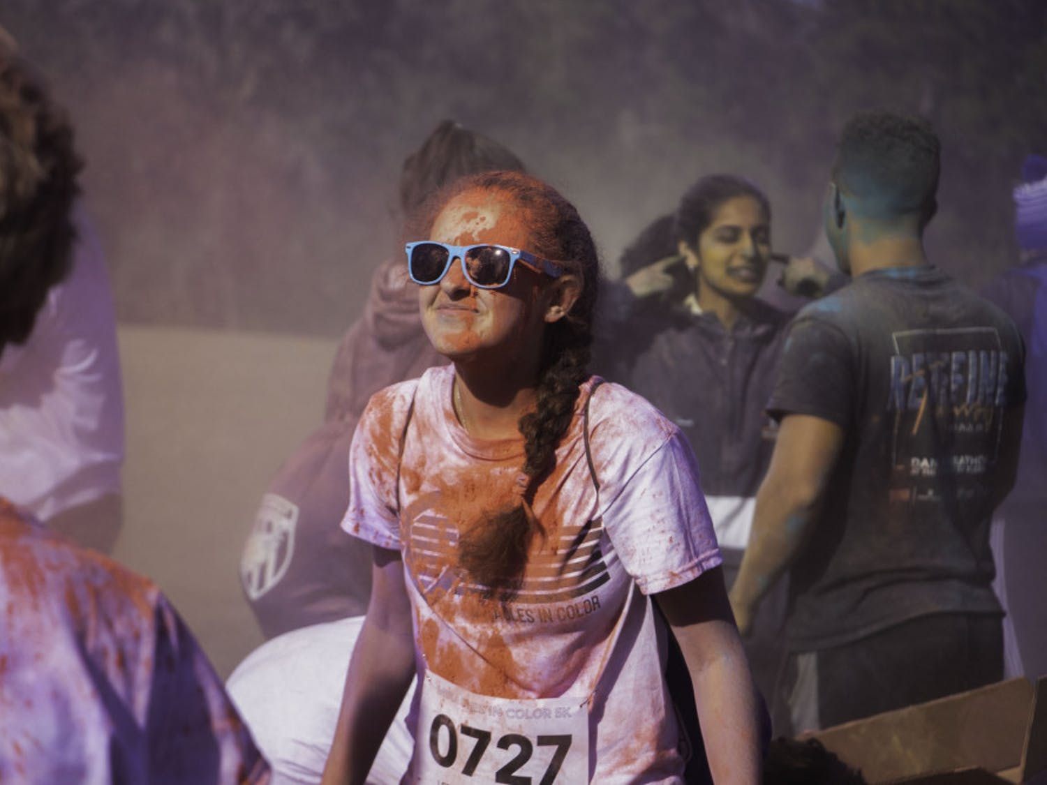 Dance Marathon hosted its first annual Miracles in Color 5K run at Flavet Field on Sunday, February 9. The run included two waves: the first for runners wanting to complete the race and the second for runners wanting to go at their own pace. The proceeds from the event will be donated to UF Health Shands Children's Hospital. The registration fee included a DJ, food and a T-shirt.