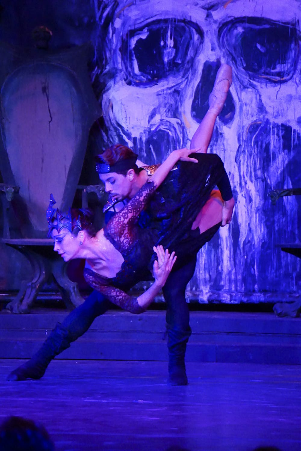 "<p>Fhillip Teixeira lifts Carla Amancio during Dance Live National Ballet's first performance of ""A Haunted Swan Lake"" of the season Oct. 25, 2015, at Riley Arts Center in Ocala. Teixeira and Amancio, both principal dancers from Brazil, play the king and queen.</p>"