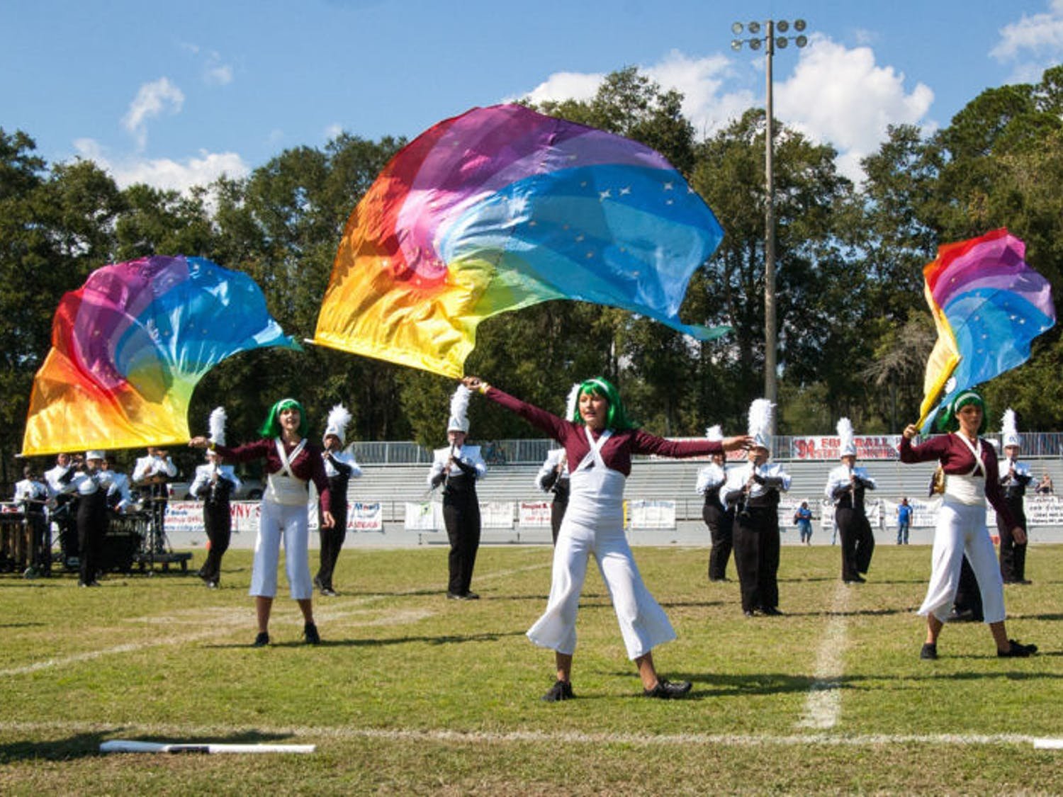 The P. K. Yonge Developmental Research School band performs at the Southern Showcase of Champions Marching Band Invitational. A.D. Nease finished in first place, and F.W. Buchholz finished in second.