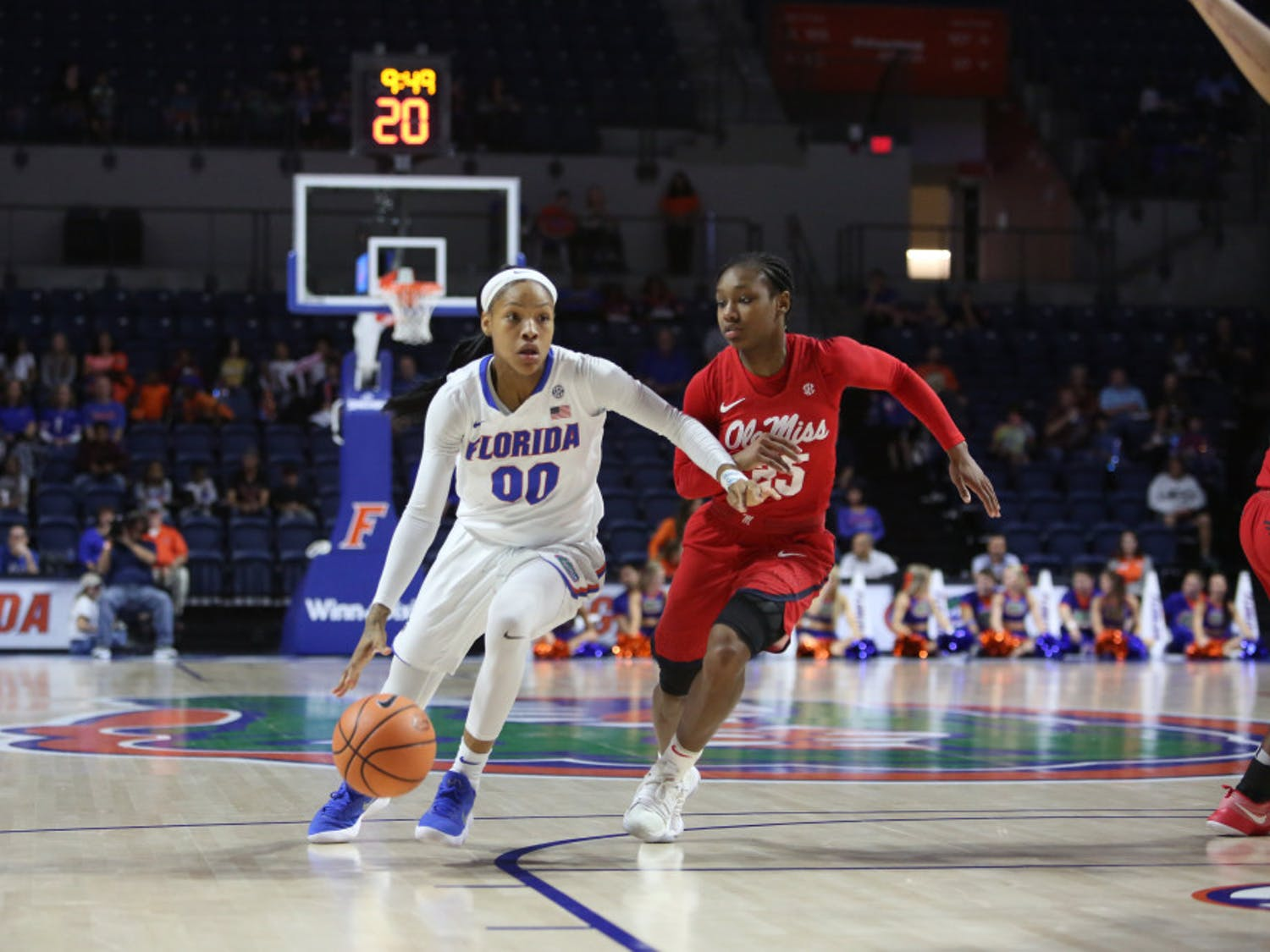 Florida guard Delicia Washington turned in a season-high 23 points Monday night in a losing effort against No. 15 Missouri.