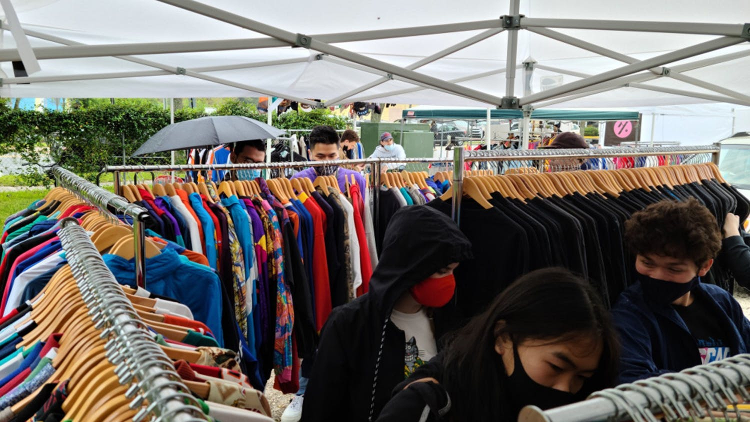 Picture of the Florida Vintage Market, a market for vintage vendors to sell their items to community members. The event returned to Gainesville Oct. 4 after an eight-month hiatus with only slight changes from its usual schedule.