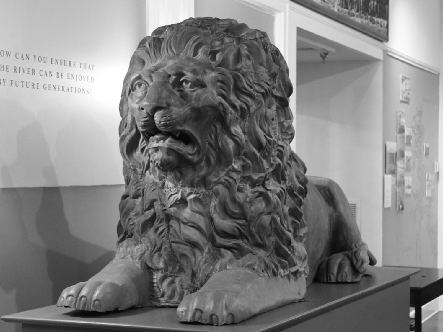 """The Matheson History Museum recently held a contest to decide a name for """"Lion A,"""" which used to be a part of the 1885 Alachua County Courthouse. After more than 100 years, he was finally given the name """"General Gaines."""""""