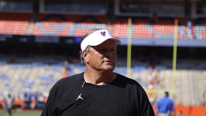 Florida defensive coordinator Todd Grantham on the field before Florida's game against Vanderbilt on Oct. 9.