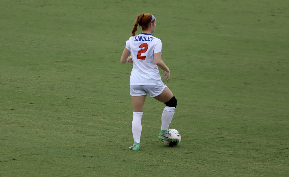 <p>Junior Cassidy Lindley at the Gators home opener of the 2020 season. Florida returns to Donald R. Dizney stadium Sunday to take on Vanderbilt.</p>