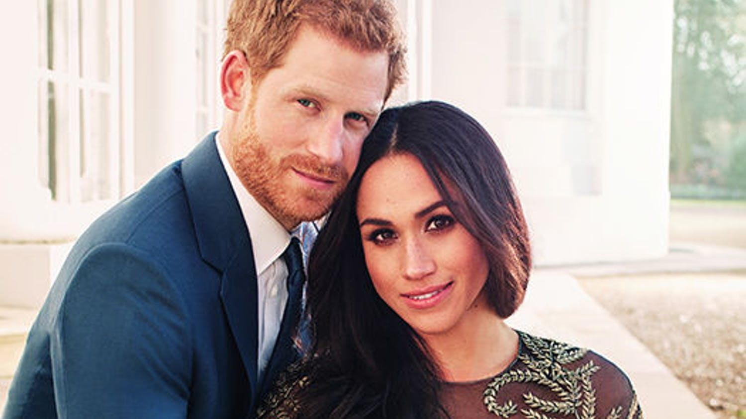Prince Harry and Meghan Markle pose for an official engagement photo at Frogmore House, in Windsor, England.