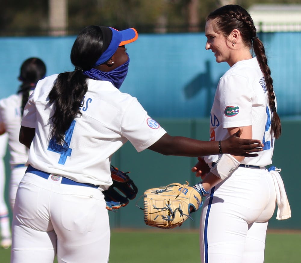 The Gators danced through a power outage and notched an 8-1 win over No. 20 Georgia to rally a series clinch Monday. Photo from UF-FSU game March 3.