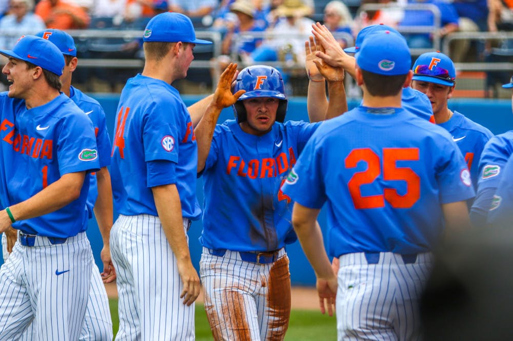 <p>UF rallied from a five-run deficit to defeat Stetson 10-7</p>