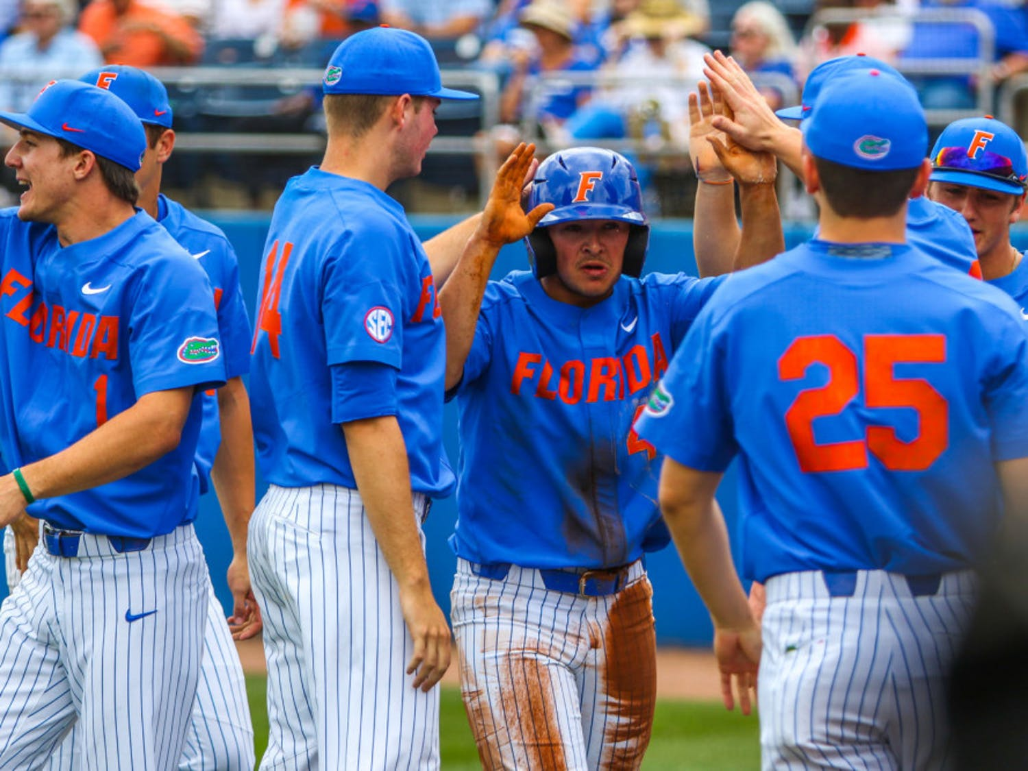 UF rallied from a five-run deficit to defeat Stetson 10-7