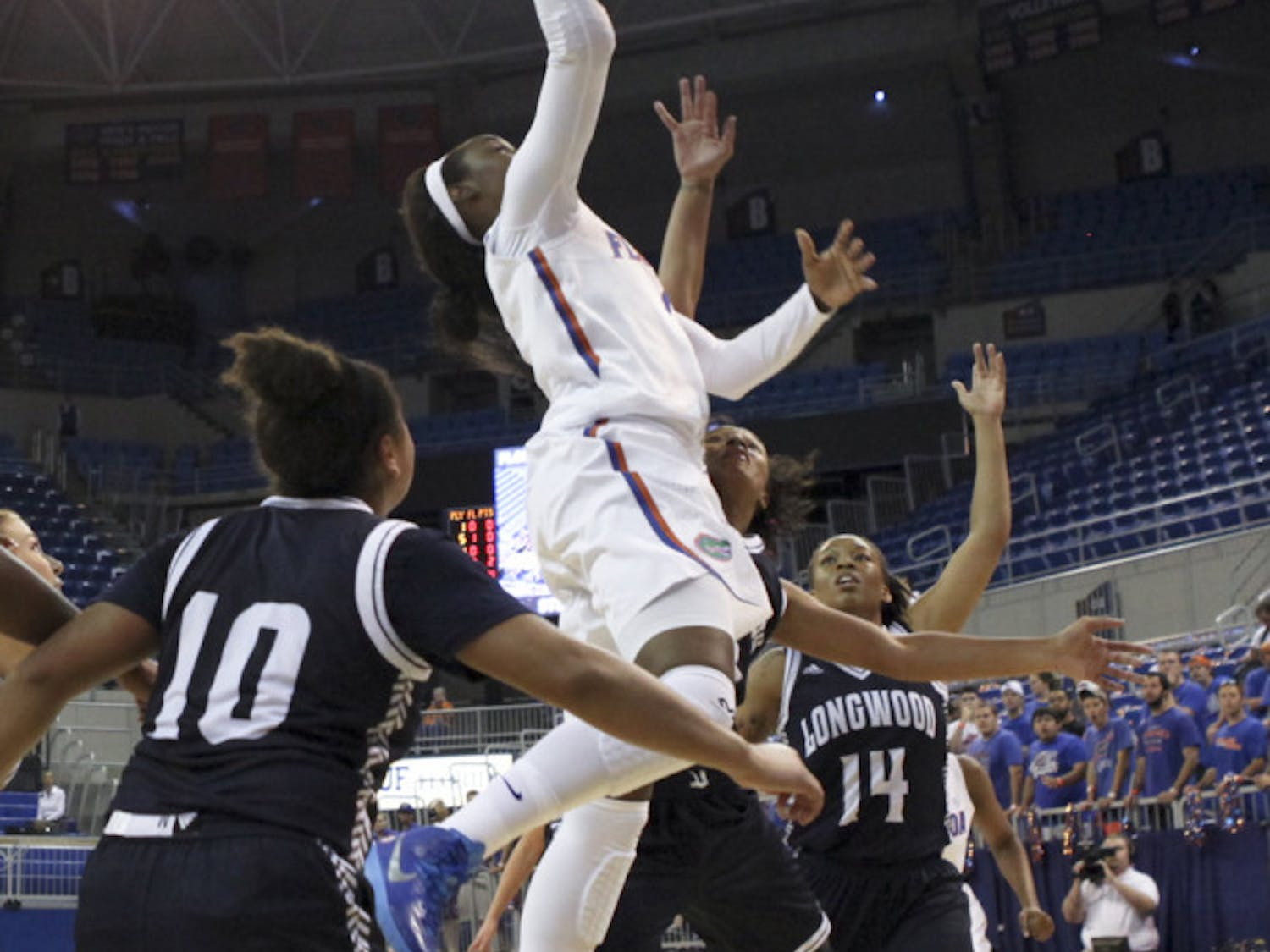 Ronni Williams goes up for a layup during Florida's win against Longwood on Nov. 17.