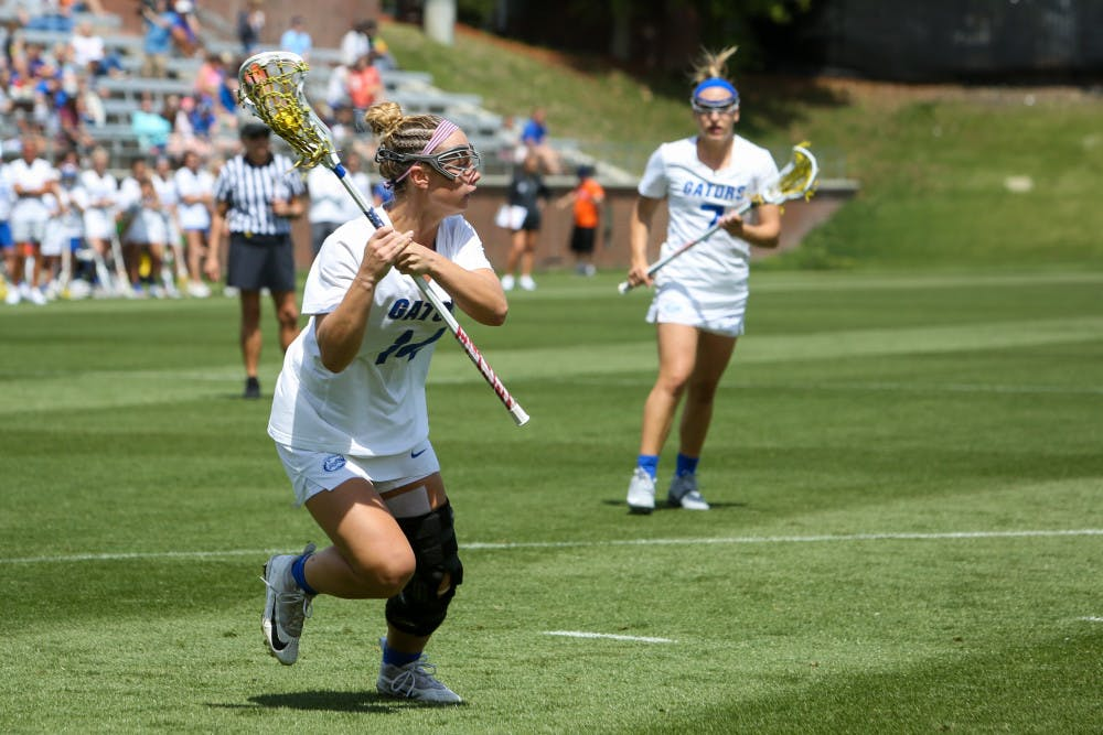 <p>Junior attacker Lindsey Ronbeck returned from an injury in Florida's 21-8 win over UConn.</p>