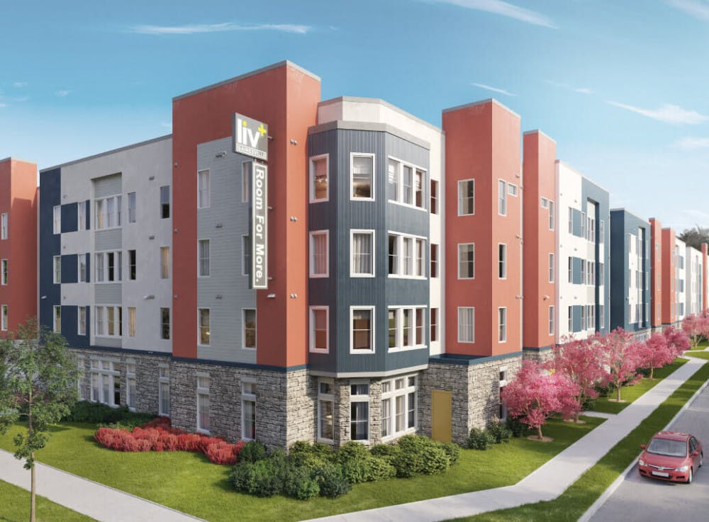 <p>Liv+ Gainesville, a new apartment complex located on SW 13th Street, previously had its move in delayed, which affected hundreds of incoming residents.</p>
