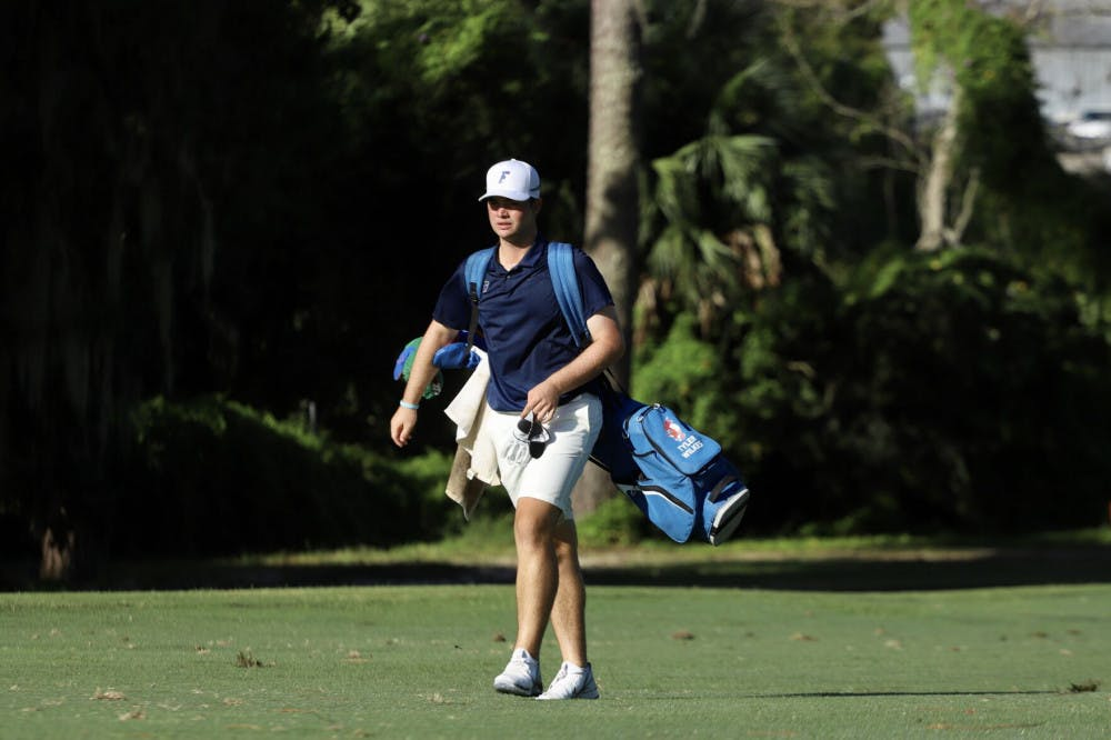 <p>Freshman Tyler Wilkes practices at Mark Bostick Golf Course. Wilkes will compete Monday at the Calusa Cup.</p>