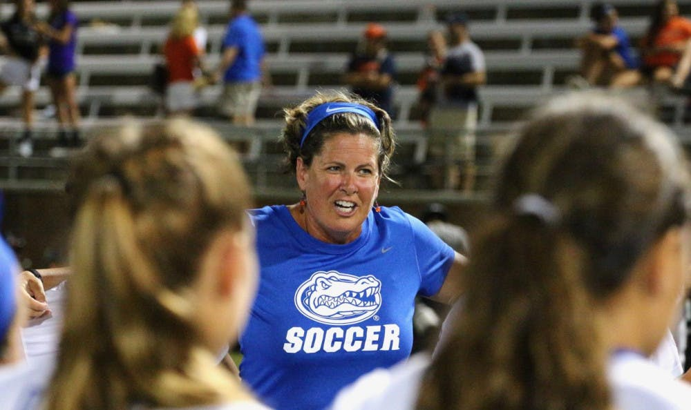 """<p><span id=""""docs-internal-guid-0245fa90-7fff-d37a-7f39-ac7832b8250d""""><span>Gators coach Becky Burleigh made her return to in-person coaching this weekend when Florida played Kentucky on Friday and Missouri on Sunday. UF dropped both out-of-town games, extending its program record for consecutive losses to six.</span></span></p>"""