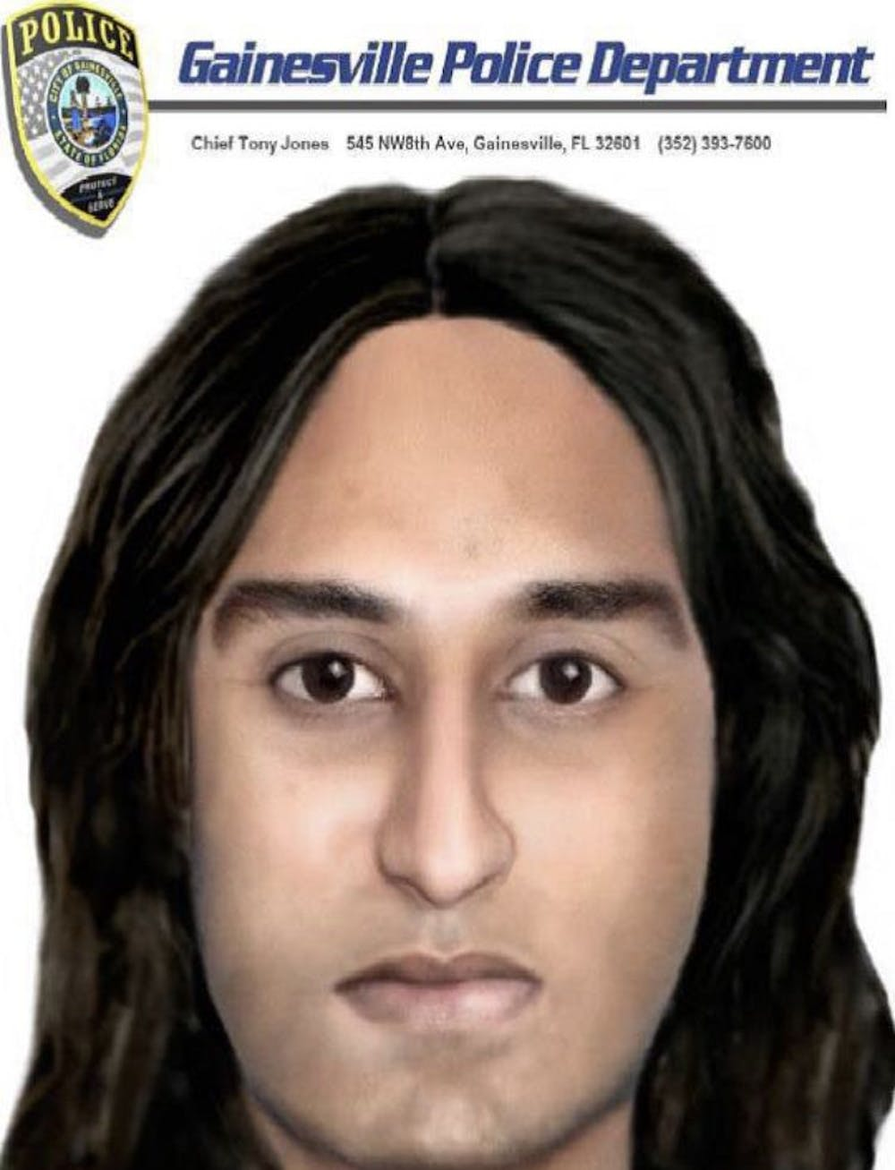 <p>A police drawing of the suspect.</p>