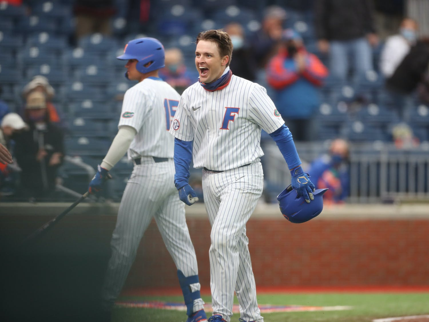 Another round of lockdown pitching carried the Gators to a 5-1 win against Georgia State. Photo from UF-UM game Feb. 19. Courtesy of the SEC Media Portal.