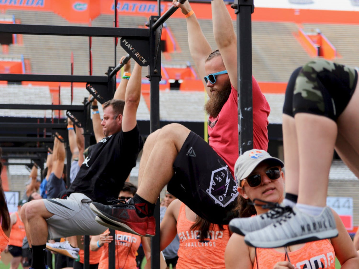 The 2018 Swamp Challenge, which celebrated its eighth year this past weekend, is the only CrossFit-style event to take place on an SEC field, according to their website. Hundreds of athletes participated in cardio, bodyweight and obstacle workouts at the one day event across three classes, Male/Male, Female/Female and co-ed, and three divisions, Masters, Scaled and RX.